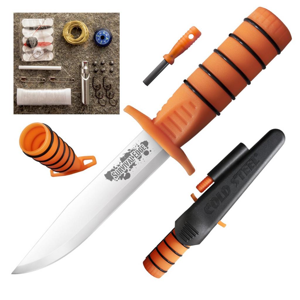 Нож выживания Cold Steel Survival Edge Orange 80PH