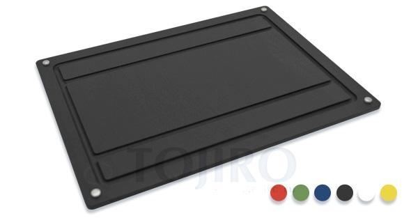 Разделочная доска 30х40 см черная с желобом, серия 570