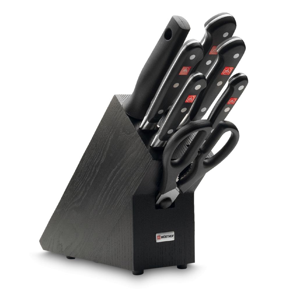 Набор из 5 ножей с мусатом и ножницами, Wuesthof 9837-200 Classic