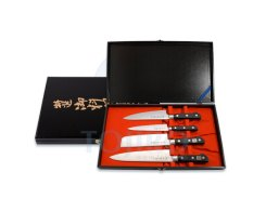 Набор из 4 ножей: 2 поварских, универсальный и овощной Tojiro FG-100