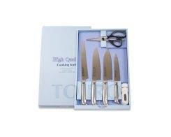 Набор из 4 ножей, керамической точилки и кухонных ножниц Tojiro FG-226