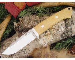 Нож туристический Bark River Drop Point Hunter AIM Turquoise Spacers