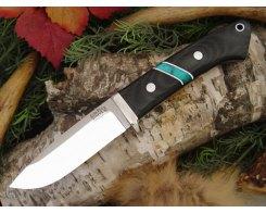 Нож туристический Bark River Drop Point Hunter BCM Jade Malachite Spacer