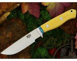 Нож туристический Bark River Gameskeeper Antique Ivory Micarta Turquoise Sp