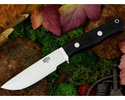 Нож туристический Bark River Gameskeeper Black Canvas Micarta