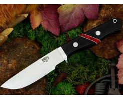 Нож туристический Bark River Gameskeeper Black Canvas Micarta Bloody Jasper