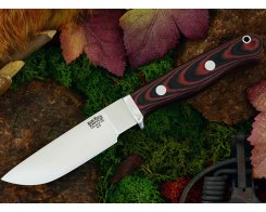 Нож туристический Bark River Gameskeeper Black & Red Linen Micarta