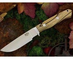 Нож туристический Bark River Gameskeeper Black & White Ebony