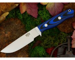 Нож туристический Bark River Gameskeeper Blue & Black G-10