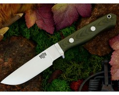Нож туристический Bark River Gameskeeper Green Linen Micarta