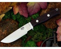 Нож туристический Bark River Gameskeeper Maroon Linen Micarta