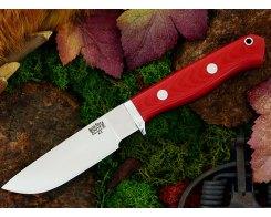 Нож туристический Bark River Gameskeeper Red Linen Micarta