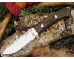 Нож туристический Bark River Drop Point Hunter Green Linen Micarta