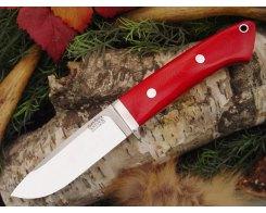 Нож туристический Bark River Drop Point Hunter Red Linen Micarta