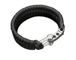 Браслет из паракорда чёрный широкий Atwood Rope MFG 24 см