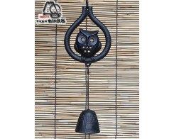 Фурин IWACHU 27086, Филин и колокольчик, цвет черный