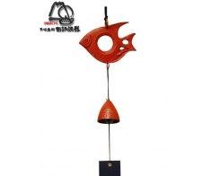 Фурин IWACHU 27116, Рыбка и колокольчик, цвет красный