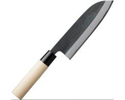Кухонный нож Gihei-hamono Aogami#2 GAB-S16J в высокоуглеродистых обкл. больстер из пластика, 165мм