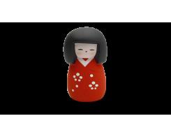 "Фигурка ""МИНИ-КУКОЛКА КОКЭСИ"" Hatamoto MD-01, 10см, ручная работа, красный"