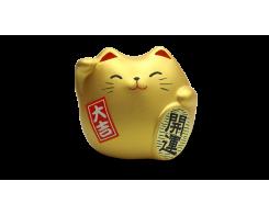 """Фигурка """"Манэки-Кот"""" Hatamoto MK-03, 5см, ручная работа, золотой"""