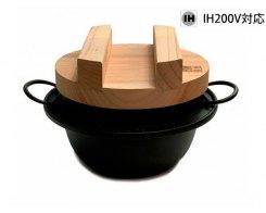 Рисоварка с деревянной крышкой - подставкой IWACHU 21285, 18 см, индукция