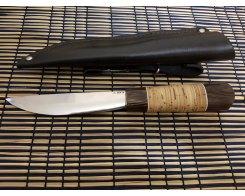 Якутский нож ручная ковка, Антарес Y95L-VB, венге+береста, сталь 95Х18, 13,5 см.