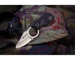 Шейный нож Kizlyar Supreme 00029 Amigo X D2 Satin, 13,3 см.