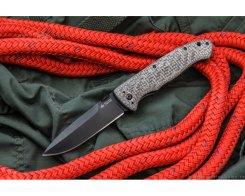 Складной нож Kizlyar Supreme 0038 Vega 440C Black Titanium, 21 см.