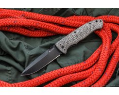 Складной нож Kizlyar Supreme 0038 Vega 440C Black Titanium, 92 мм.