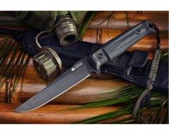 Тактический нож Kizlyar Supreme 00754 Croc, D2 Black Titanium