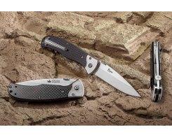 Складной нож Kizlyar Supreme 17181 Prime D2 Satin Carbon, 90 мм.
