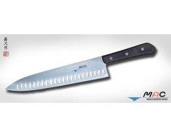 Кухонный поварской нож MAC Chef TH-100, Chef с проточкой 255 мм.