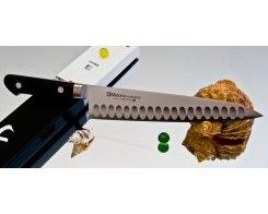 Поварской нож Misono Molibden Steel с проточкой Gyuto 180 мм.