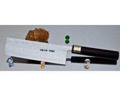 Кухонный нож для шинковки Moritaka AS Damaskus Nakiri 165 мм.