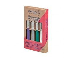 Набор ножей Opinel Les Essentiels Art deco, цветные, нержавеющая сталь, (4 шт./уп.)