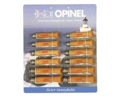 Набор-дисплей Opinel T095 12 ножей, нержавеющая сталь, бук