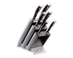 Набор кухонных ножей 6 шт. на деревянной подставке Wuesthof Classic Ikon 9876 WUS