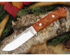Нож туристический Bark River Drop Point Hunter Amboynia Burl