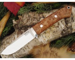 Нож туристический Bark River Drop Point Hunter Black Ash