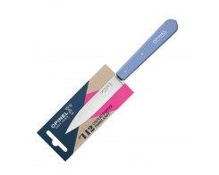 Нож столовый Opinel №112, нержавеющая сталь, голубой, 100 мм.