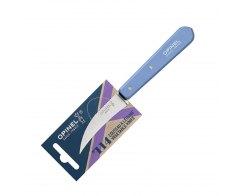 Нож для чистки овощей Opinel №114, нержавеющая сталь, синий, 70 мм.