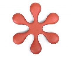 Чугунная подставка под чайник IWACHU 17194, 18,5 см. цветок, цвет красный