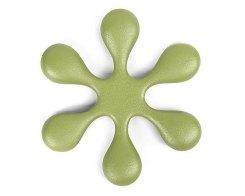 Чугунная подставка под чайник IWACHU 17494, 18,5 см. цветок, цвет зеленый