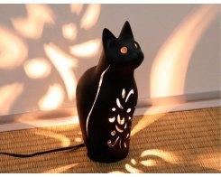 Чугунный подсвечник для свечи-таблетки, IWACHU 29830, Кот черный