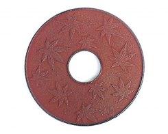 Чугунная подставка под чайник IWACHU 47337, 14 см. кленовый лист, цвет каштановый