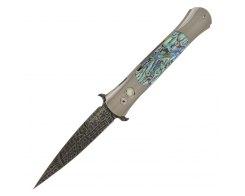 Автоматический складной нож Pro-Tech The Don Custom Titanium Abalone 1760-ABALONE