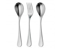 Набор столовых приборов для сервировки, 3 предмета, Robert Welch ASHBR1088V/3, сталь 18/10.