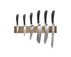 Набор кухонных ножей на магнитном держателе из дуба, 6 предметов, Robert Welch RW/KS001SOB, сталь X50CrMoV15.
