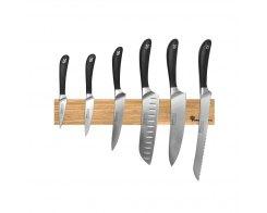 Набор кухонных ножей на магнитном держателе из дуба, 6 предметов, Robert Welch RW/KS001SON, сталь X50CrMoV15.