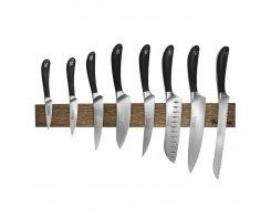 Набор кухонных ножей на магнитном держателе из дуба, 8 предмета, Robert Welch RW/KS010SOB, сталь X50CrMoV15.